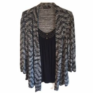 HeartSoul plus Attached Top & Cardigan Size 3X